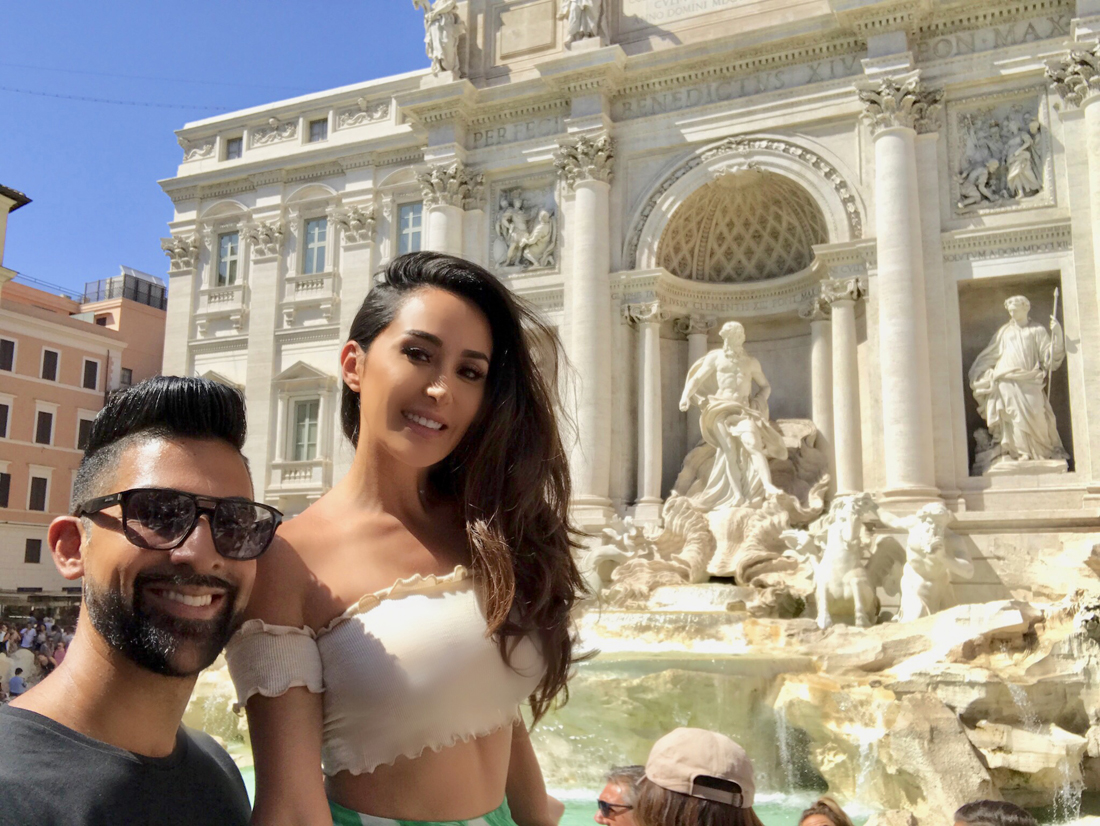 Dhar Mann and Laura Gurrola in Italy 2018