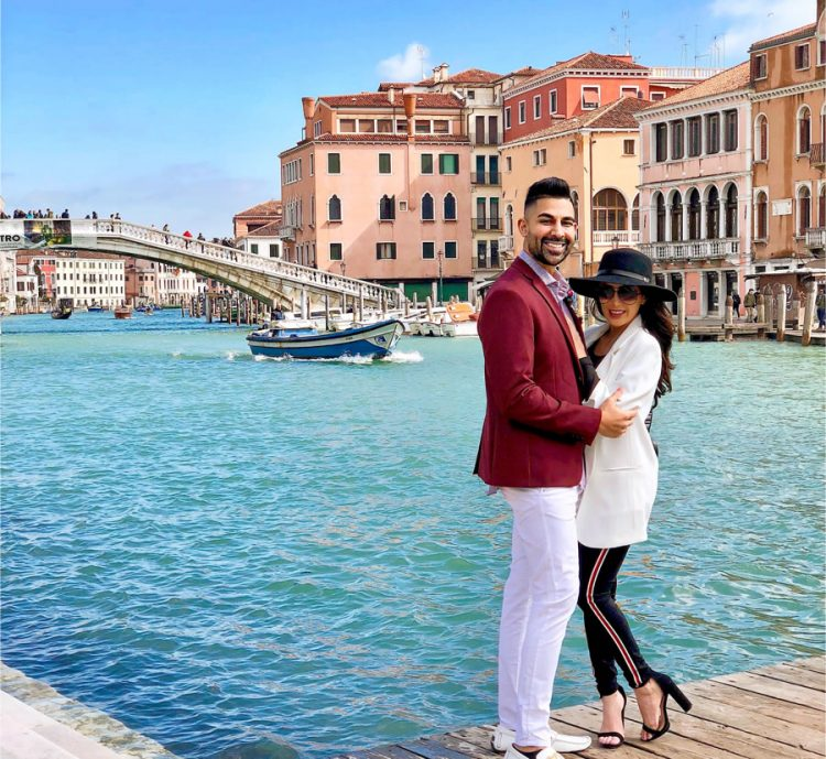 Dhar Mann and Laura G in Venice, Italy