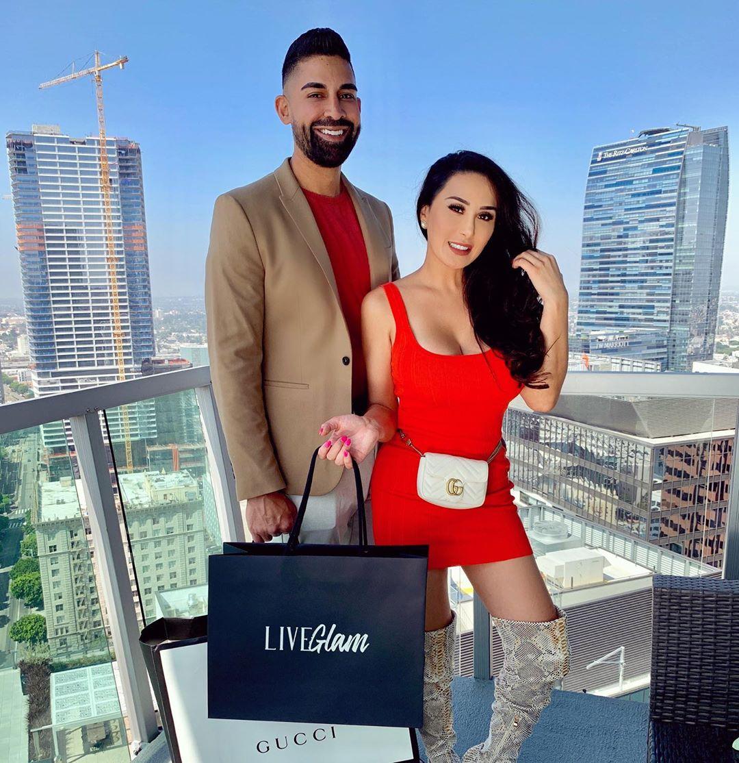 Laura Gurrola and Dhar Mann LiveGlam Giveaway on Instagram