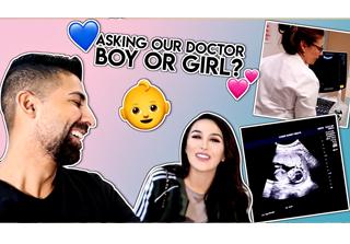 Dhar and Laura visiting doctor to find babys gender vlog